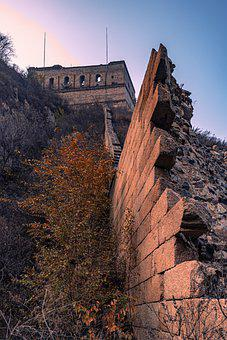 The Great Wall, Ruins, China, World Heritage, Beijing