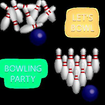 Bowling, Sport, Neon Sign, Bowling Ball, Bowling Pins
