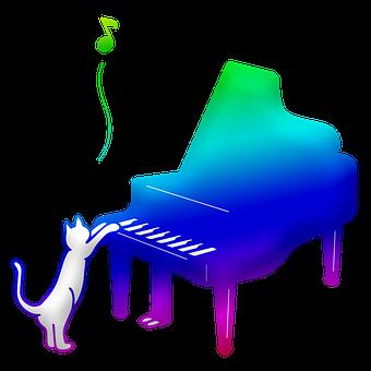 Piano, Cat, Playing, Kitty, Kitten, Feline, Pet