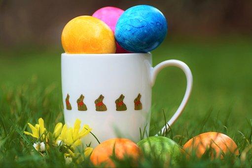 Eggs, Mug, Easter, Easter Eggs, Colorful Eggs