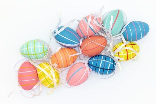 Coloured, Plastic, Eggs, Decorative, Easter