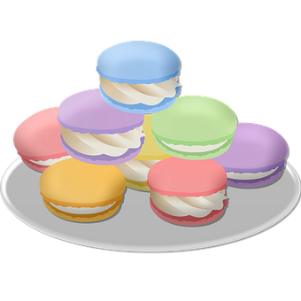 Macarons, Dessert, Pastry, Food, Snack