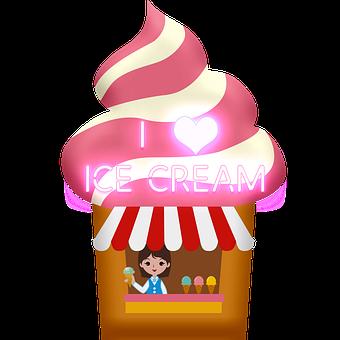 Ice Cream Stand, Ice Cream, Vendor, I Love Ice Cream