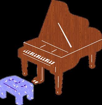 Grand Piano, Bench, Instrument, Classical Piano
