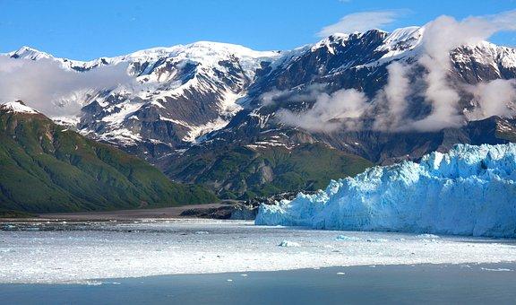 Alaska, Glacier, Ice, Mountains, Scenic, Ocean