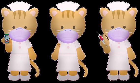 Cats, Nurse, Mask, Face Mask, Protective Mask, Covid 19