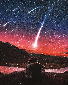 Romantic, Shooting Stars, Romance, Galaxy, Universe
