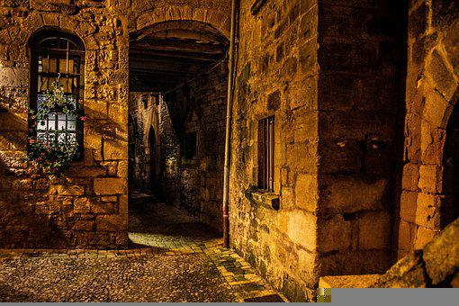 Alley, Buildings, Stone Wall, Village, Old Village