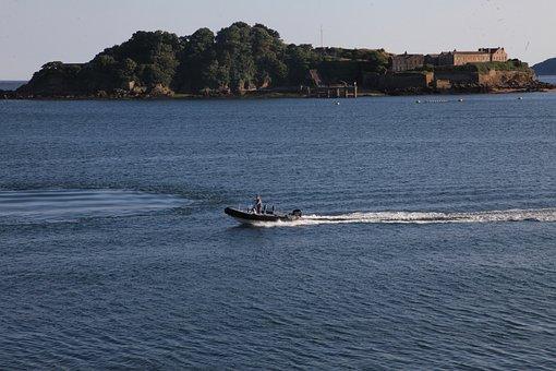 Island, Water, Boat, Sea, Landscape, Summer, Sky