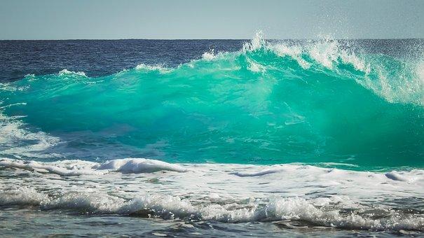 Waves, Sea, Ocean, Surf, Spray, Water, Seascape, Wind