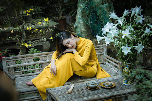 Ao Dai, Fashion, Woman, Vietnamese, Yellow Ao Dai