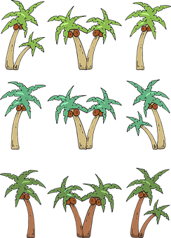 Palm Trees, Trees, Coconut, Tropical, Beach, Holiday