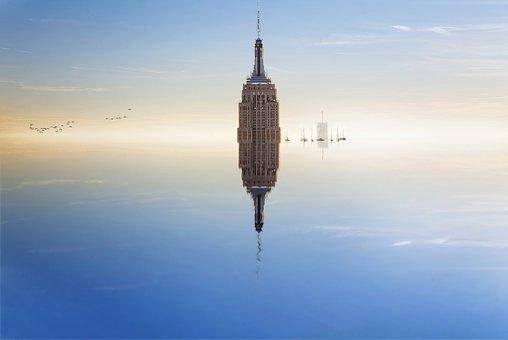 Building, Tower, Skyscraper, Boats, Float