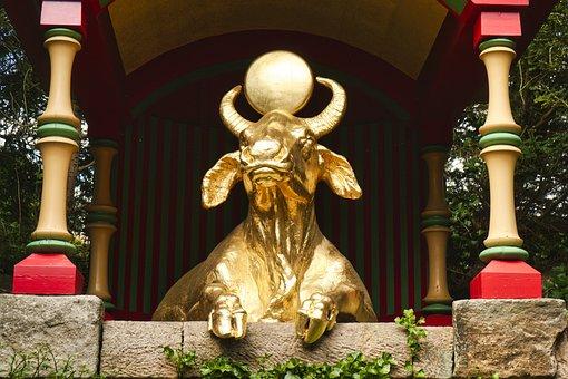 Bull, Cow, Horns, Golden Calf, Sculpture, Statue