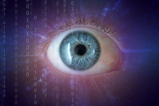 Eye, Blue, Pupil, Eyelashes, Digital, Matrix