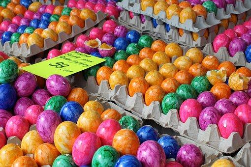 Egg, Easter, Colored, Food, Spring, Nest, Easter Bunny