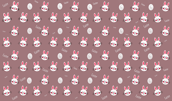 Rabbit, Bunny, Easter Eggs, Paper, Pattern, Texture