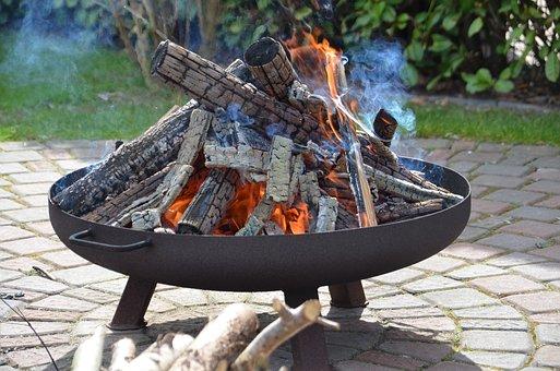 Fire Bowl, Fire, Embers, Hot, Burn, Heat, Campfire