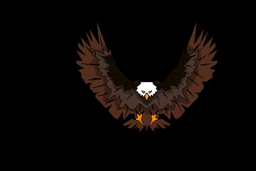 Bird, Eagle, Wings, Falcon, Hawk, Emblem, Flag