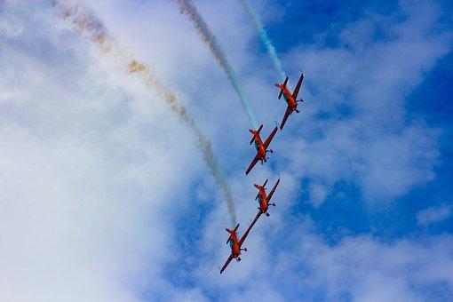 Airshow, Airplane, Sky, Flight, Flying, Aerobatics