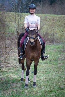 Horseback Riding, Horse, Girl, Happy, Cheerful, Pony