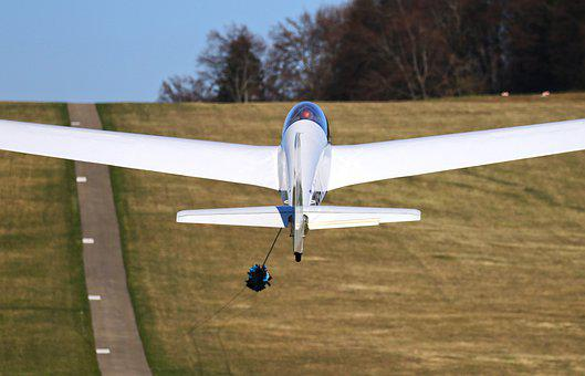 Aircraft, Glider, Winch Towing, Ross Field, Gliding