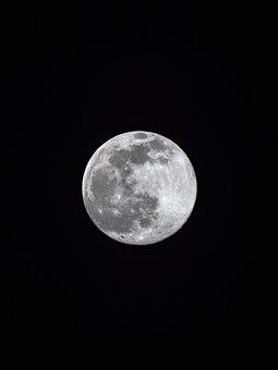 Full, Moon, Night