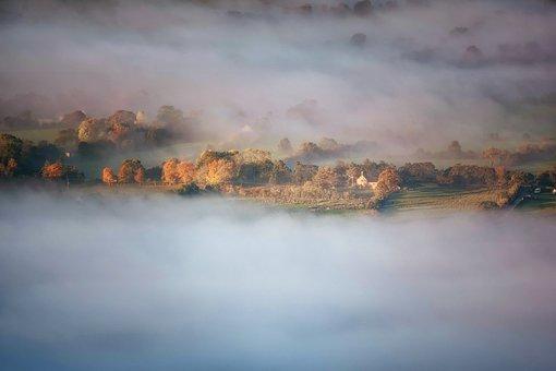 Mist, Scenic, Nature, Fog, Landscape, Sunrise, Sunlight