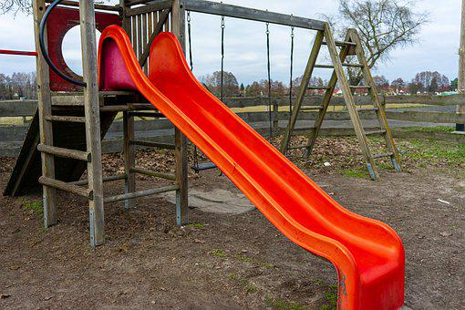 Slide, Playground, Children's Playground, Play