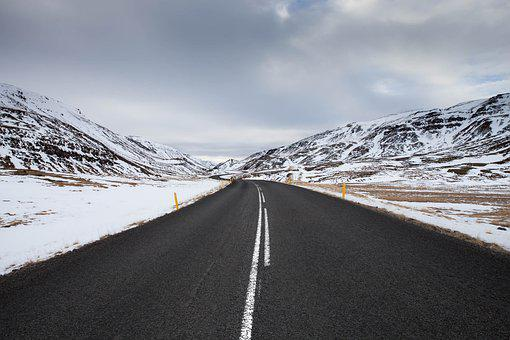 Road, Mountains, Snow, Pavement, Asphalt, Winter, Snowy
