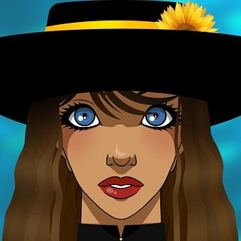 Beauty, Fashion, Woman, Hat, Sunflower, Beautiful, Girl