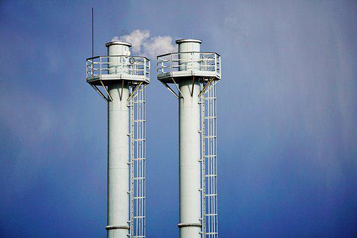 Chimneys, Energy, Heating, Fuel, Industrial Plant