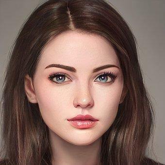 Beauty, Woman, Portrait, Face, Makeup, Female