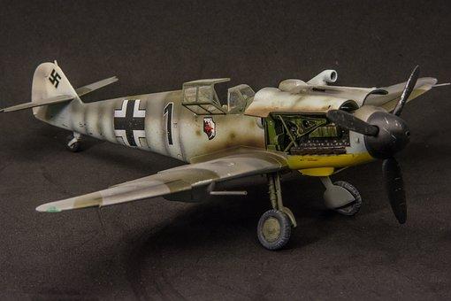 Scale Model, Messershmit, Aviation, Bf-109, Ww2, Model