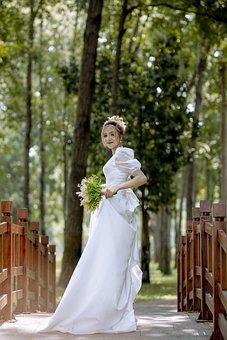 Bride, Model, Woman, White Dress, Wedding Dress