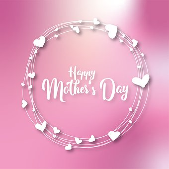 Mother's Day, Greetings, Heart, Typography, Font, Love