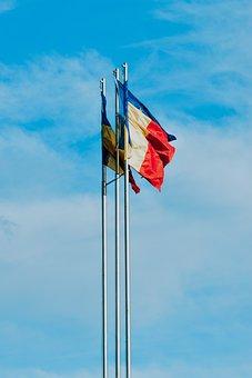 Romania, Flag, Country, Europe, National, Symbol