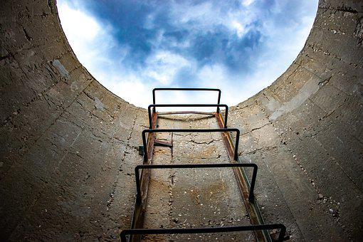 Ladder, Sky, Clouds, Ascent, Tower, Ladder To The Sky
