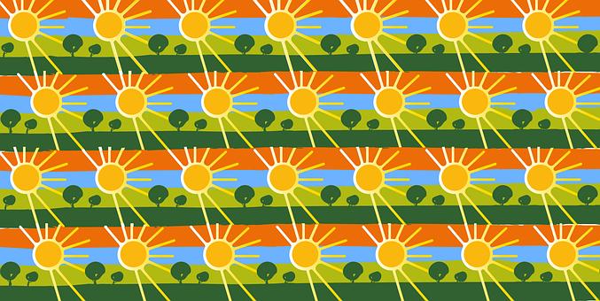 Background, Sun, Nature, Pattern, Trees, Sun Rays