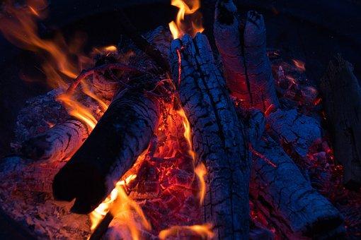 Campfire, Coal, Fire, Flames, Firewood, Bonfire