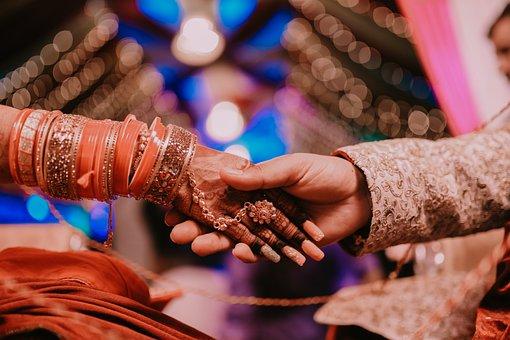 Wedding, Hands, Indian, Couple, Marriage