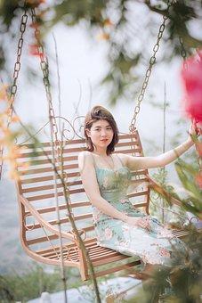 Woman, Leisure, Porch Swing, Tourist, Fashion, Beauty