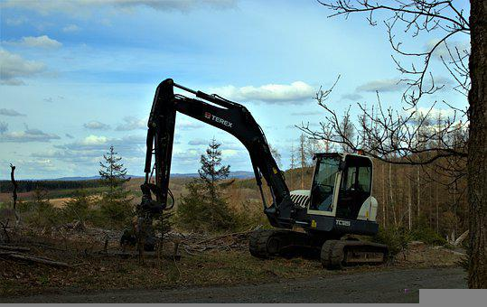 Forest Equipment, Excavators, Machine, Vehicle, Hard