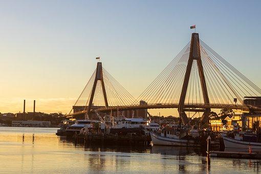 Sydney, Bridge, Harbor, Sunset, Australia