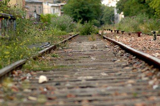 Railroad, Abandoned, Grass, Rails, Railway, Rail Track