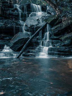 Waterfall, River, Rocks, Water, Stream