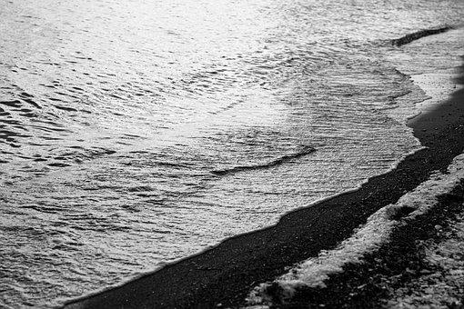 Beach, Sea, Sand, Shore, Seashore, Ebb, Waves