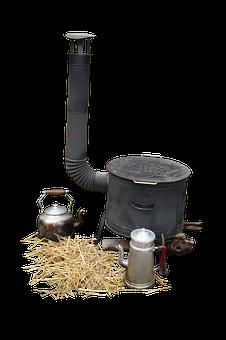 Wood, Stove, Kitchen, Cooker, Old, Antique, Bonfire