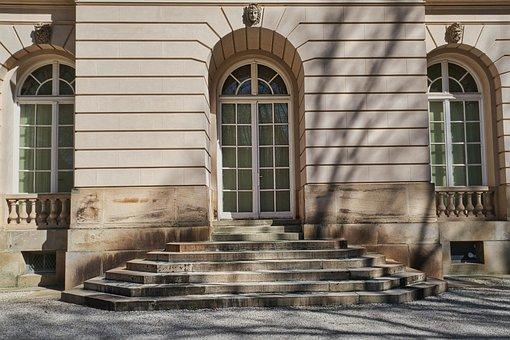 Building, Facade, Architecture, Stairs, Door, Windows