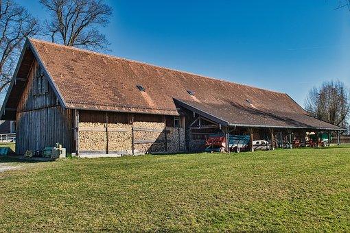 Barn, Building, Architecture, Farm Building, Old, Field